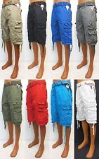 Men's SOUTHPOLE khaki black royal grey olive red blue white cargo shorts #14121
