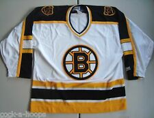 Boston Bruins White Classic NHL Authentic CCM Hockey Jersey NEW