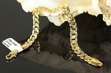 Unisex Curb Bracelet Genuine 750er Gold 18ct Gold-plated B1434 Dubai