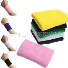 1 Pairs Cotton Sweatband Wristband Sport Gymnastics Running Tennis Wrist