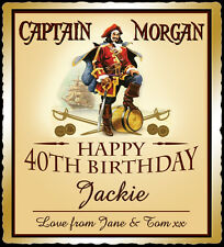 Personalised Captain Morgan Spice bottle label, birthday, xmas gift
