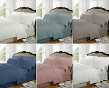 Highams 100% Egyptian Cotton Plain Dye Housewife Pillow Case 230 Thread Count