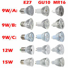 E27 GU10 MR16 CREE LED Spot Light Bulb 9W 12W 15W White Epistar Globe Down Lamp