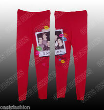 NEW Girls One Direction (1D) Signature Print Kids Leggings Age 7-13 Years