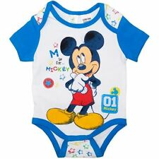 Baby Boy Cotton MICKEY MOUSE Summer Romper Bodysuit Outfit