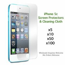 iPhone 5c screen protectors and cleaning cloth wholesale job lot