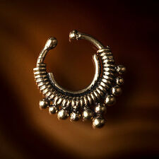 Brass Fake/Faux/Clip On Septum Ring For Non Pierced Noses (Code 3)