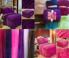 """Solid Color Plush Throw Diamond Flannel Blanket Cozy Fluffy Soft Queen 92*80"""""""