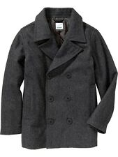 OLD NAVY Boys Wool Blend Peacoat Pea Coat XS,S,M,L,XL,2XL NEW NWT Heather Grey