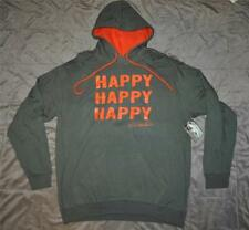 Duck Dynasty Duck Commander Happy Pullover Hoodie Mens Sizes Green/Orange NWT
