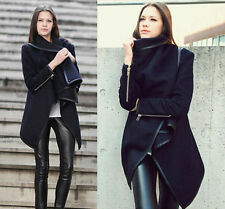 2014 Women's Warm WOOL Slim Long Coat Jacket Trench Windbreaker Parka Outwear