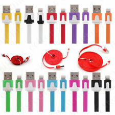8 Pin USB Flat Noodle Data Sync Charger Cable for i Phone 5/5S/5C 6 6 Plus NEW