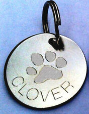Engraved Pet Tags ID Tag Cat Dog Puppy Paw Heart Star Flower Bone Personalised