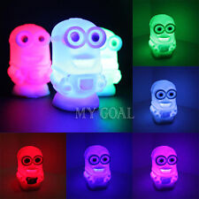 New Color Changing Colorful Night Light Lamp Toy Despicable Me 2 Minions Figures
