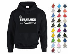 THE SURNAMES ARE AWESOME - PERSONALISED HOODIE WITH ANY NAME - CHRISTMAS GIFT