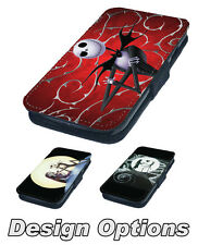 The Nightmare Before Christmas Printed Faux Leather Flip Phone Cover Case 2