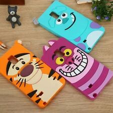 For SAMSUNG S3 S4 S5 Mini NOTE 2 3 4 5 Soft Silicon Monster Disney Animal Case