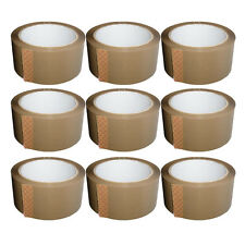 ROLLS OF BROWN BUFF PARCEL PACKING OF 48mm x 66M STRONG PACKING ADHESIVE TAPE
