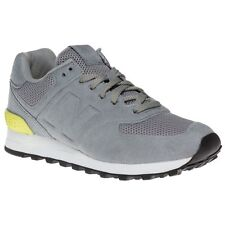 New Boys New Balance Grey 574 Sonic Synthetic Trainers Retro Lace Up