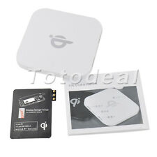 White Qi Wireless Charger Charging Pad+Wireless Charge patch for Samsung HTC