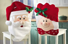Mr and Mrs Santa Claus Christmas Kitchen Chair Covers Decor New High Quality