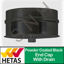 Drain Cap Black 5 inch 6 inch 125mm 150mm Flue Pipe Fittings Powder Coated