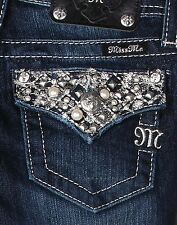 MISS ME Girls Super Bling Flap Boot Cut Jeans JK7080B Sizes 7 8 10 12 14