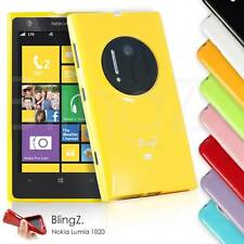 New Slim Fit Silicone TPU Rubber Jelly Phone Case Cover for Nokia Lumia 1020