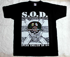 S.O.D. STORMTROOPERS OF DEATH ANTHRAX M.O.D. NUCLEAR ASSAULT NEW BLACK T-SHIRT