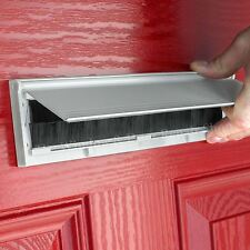 PVC Door Metal Letter Box Plate Seal Flap Cover Brush Internal Draught Excluder