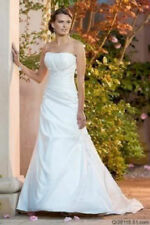 2014  White or ivory Wedding Dress Gown Bride Dress Stock Size: 6 8 10 12 14 16