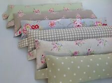 Farmhouse vintage shabby chic floral dotty fabric draught excluders