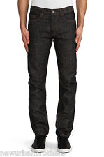 NWT Won Hundred Crew Straight Slim Jeans in Vintage Black RRP $260