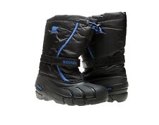 "Kid's Youth Size Sorel- ""Flurry TP"" Felt Lined Warm Winter Snow Boots Black B16"