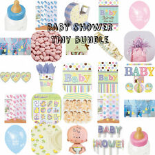 BABY SHOWER UNISEX TINY BUNDLE PARTY TABLEWARE PLATES CUPS FAVOURS PINATA