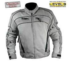 Xelement Silver Igniter TriTex CF378 Mesh Level-3 Armored Motorcycle Jacket