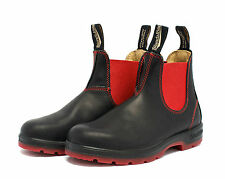 BLUNDSTONE PULL ON BOOT WOMEN BLACK/RED STYLE 1316