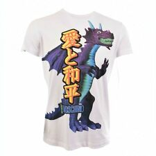 MOSCHINO JEANS M44446H White T-Shirt with Dragon Print