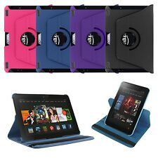 360 Rotating Leather Case Skin Smart Cover Stand for Amazon Kindle Fire HDX 8.9""
