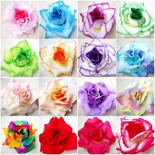 3x Giant Rose Velvet silk artificial flower handmade  Decorate  wedding size 4""