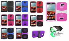 Alcatel One Touch POP ICON / A564C Rugged Case with BUILT in Screen Protector