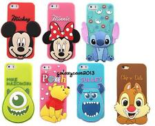 i6 3D Disney Cartoon Big Head Silicone Soft Back Full Case For iPhone 6 / 6 Plus