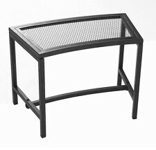 Fire Pit Bench Firepit Seat Black Mesh Patio Stool Metal Chair Outdoor Furniture