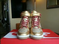 WOMEN'S NIKE REVOLUTION SKY HI BHM QS (649460 700) METALLIC GOLD SZ 6.5, 7.5, 8