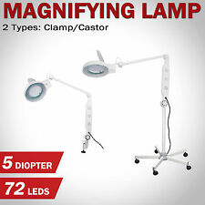 Magnifying Lamp Glass Lens Round Head LED Fluorescents Magnifier Desk Stand