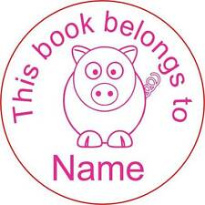 Personalised Clear Acrylic Craft Stamp (Rubber Stamp) - Pig