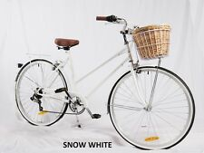 SAMSON CYCLES 7SPEED SNOW WHITE  VINTAGE LADIES BIKE( WITH FREE LIGHTS AND LOCK)
