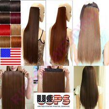 Elegant 100% Real Clip In On Remy Human Hair Extensions One Piece Free Ship F204