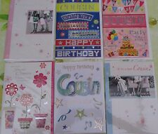 COUSIN BIRTHDAY CARD CHOICE OF 6 GOOD QUALITY CARDS MALE & FEMALE