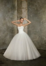 new lot White/Ivory stock Bride Bridesmaid Wedding Gown Evening Dress Size 6-16